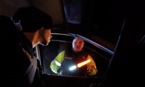 Deputy Embarrassed at New Year 2015 Checkpoint by CopBlocker (Video)