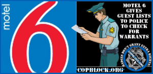Motel 6 Chain Gives Guest Names to Police Without Their Knowledge