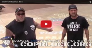 Greater Cleveland CopBlock Chalk The Police Day