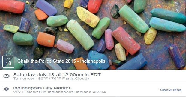 Chalk Police State Indianapolis