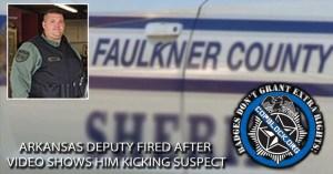 Arkansas Deputy Fired After Video Shows Him Kicking Suspect