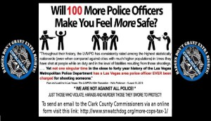 Oppose the Return of the More Cops Tax to Las Vegas: Tuesday Sept. 1st