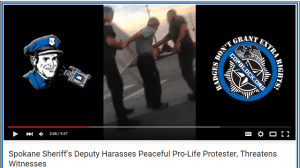 Deputy Harasses Peaceful Pro-Life Protester, Ignores Crazed Pro-Choice Fanatics