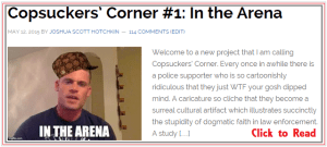copsuckers corner #1 in the arena john burk