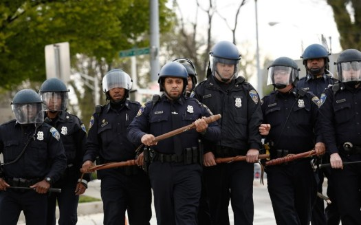 Baltimore Police Riot Gear