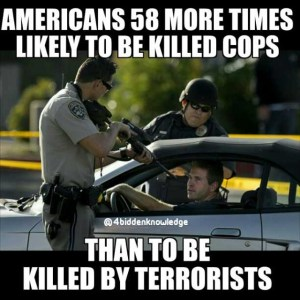 Does The Everyday Work of Police Officers Constitute as Terrorism?