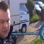 Essex England Police Sgt. Attempts To Enforce A Civil Search Warrant For BBC TV Licensing