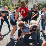 After Man With Knife Attacked Woman at Las Vegas Protest, LVMPD Arrested Those Who Defended Her