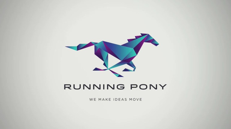 running pony logo