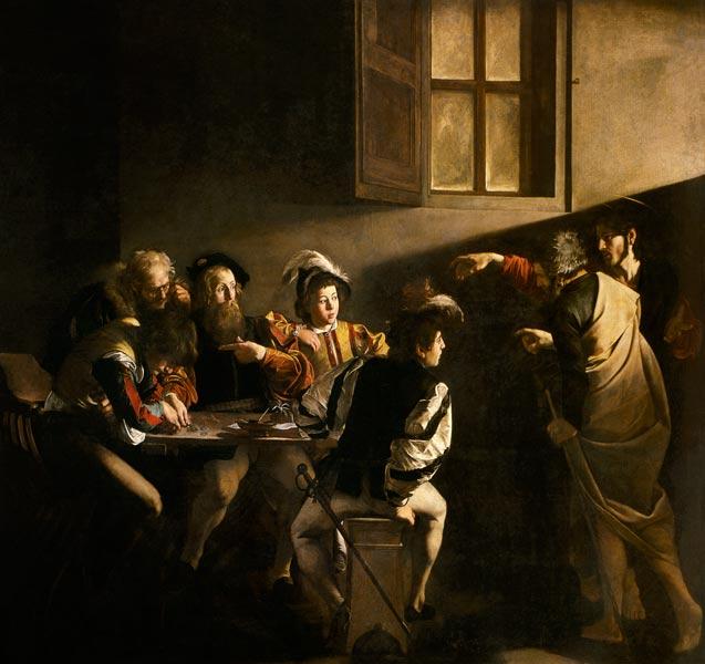 Titolo dell'immagine : Michelangelo Caravaggio - La vocazione di San Matteo