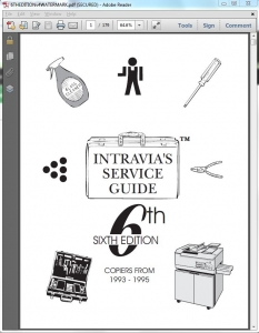 Intravia's 6th (1993-1995) copier service guide