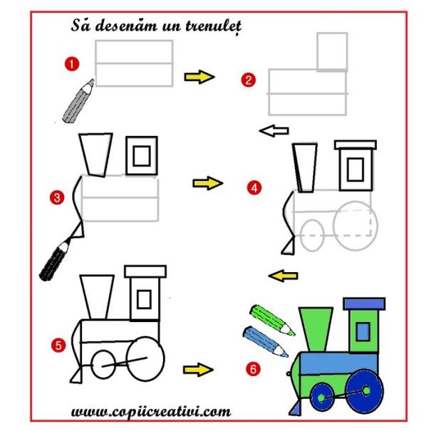Invata Sa Faci Desene Pentru Colorat Sa Desenam Un Tren
