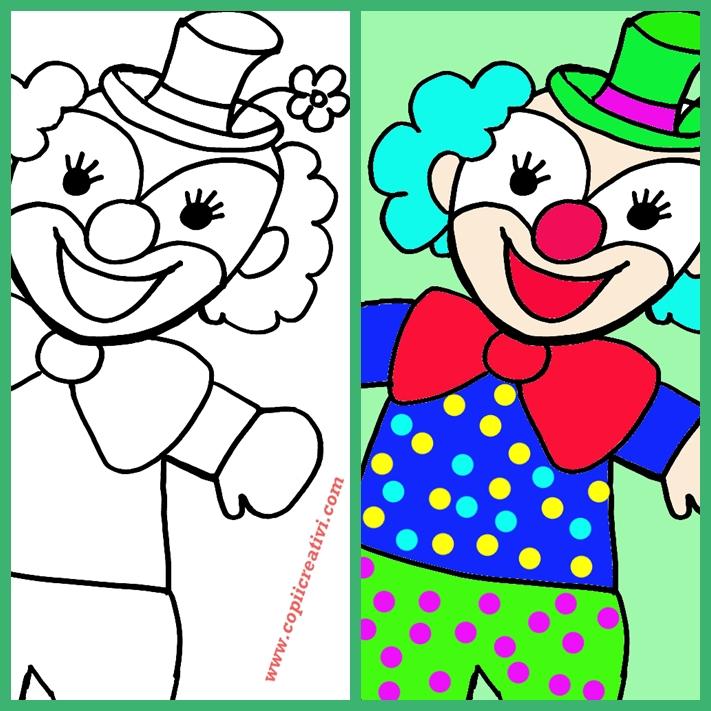 Desen cu un clown