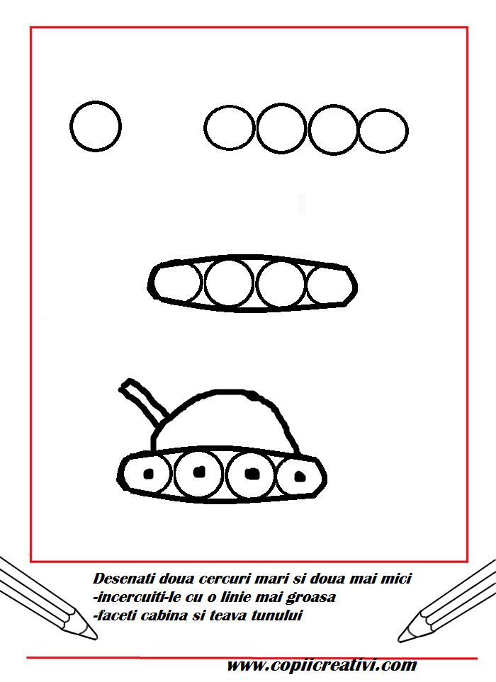 Sa desenam un tanc- cel mai simplu posibil