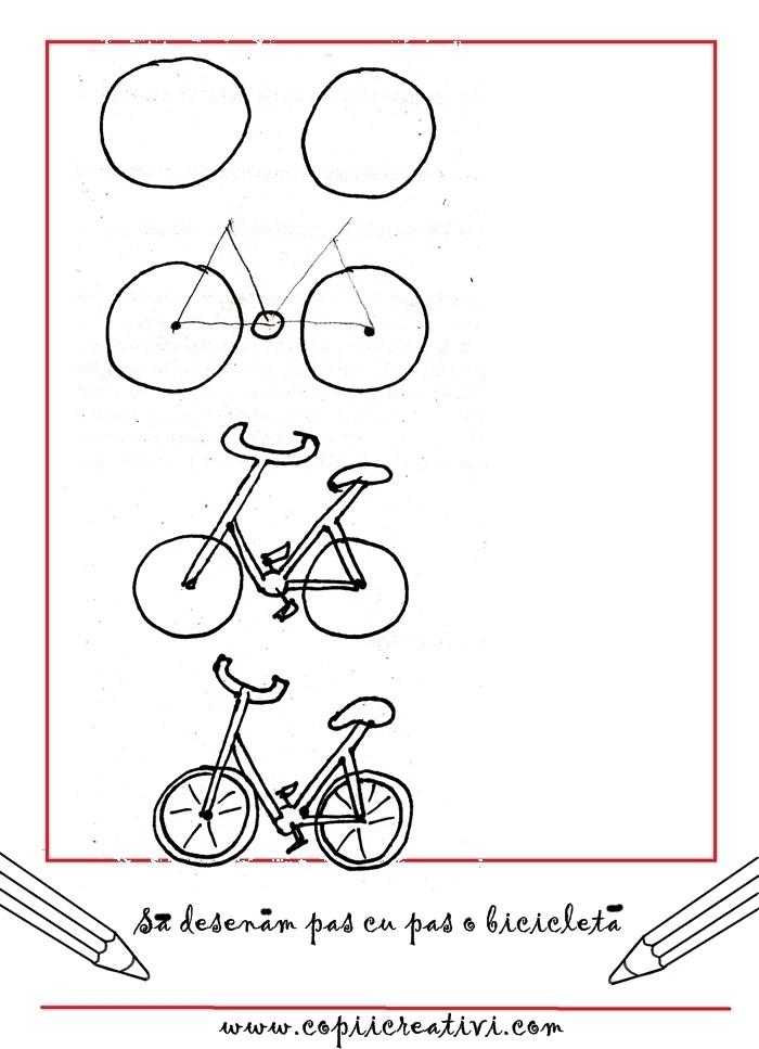 Cum desenam o bicicleta pas cu pas