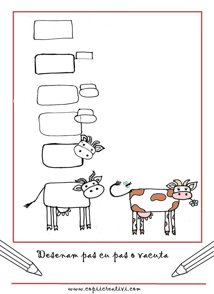 Cum desenam o vaca, pas cu pas