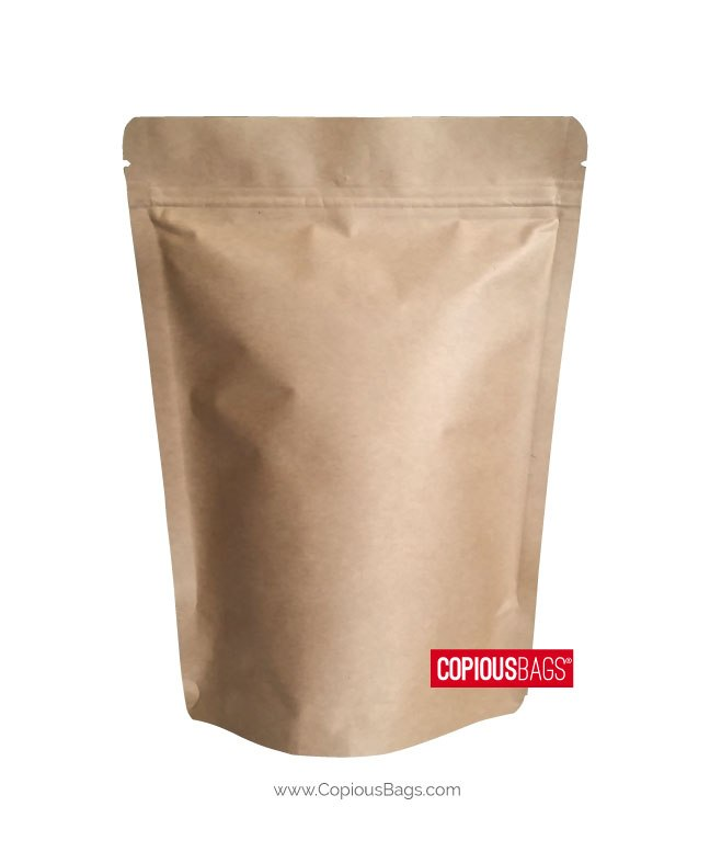 4 oz Kraft Stand Up Pouches 5×8 : 140g