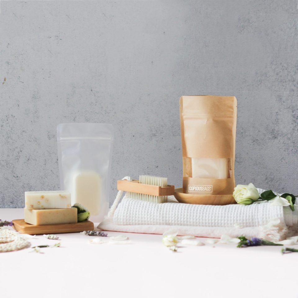 Soap Packaging | Stand Up Zipper Pouch Bags – Soap Packaging – Resealable Bags – Copious Bags
