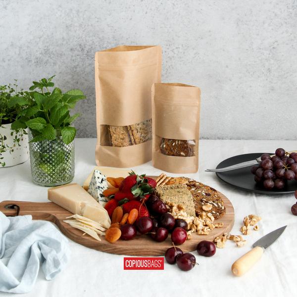 resealable kraft window bags – 2 oz bags