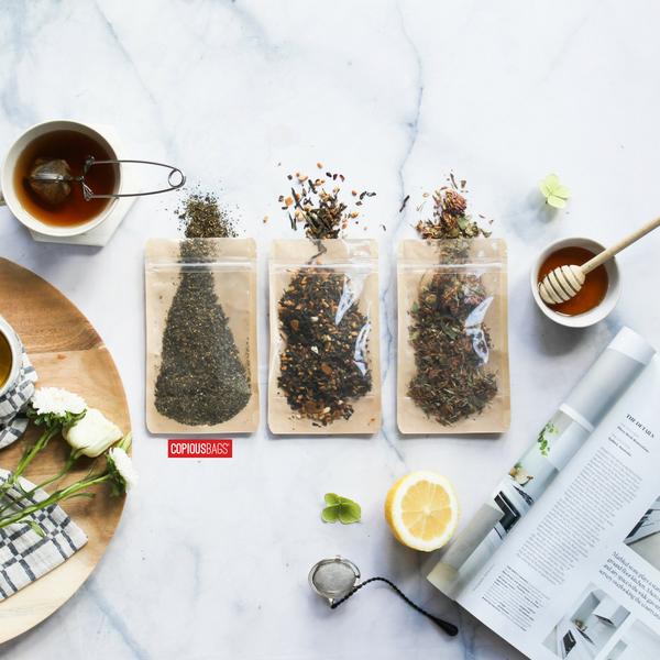 tea packaging bags kraft