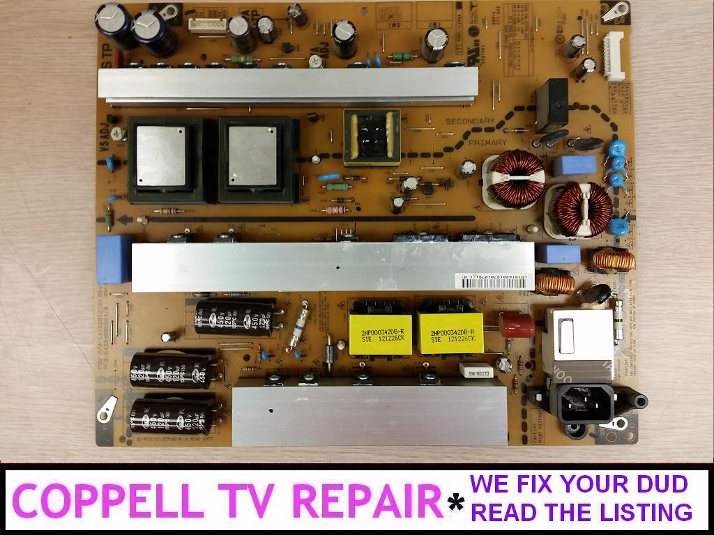 Repair service for LG 60PN5700-UA power supply board causing dead TV or other problems - Coppell TV Repair LLC