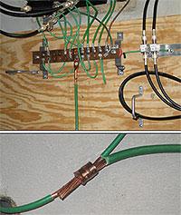 Garage Sub Panel Ground Rod