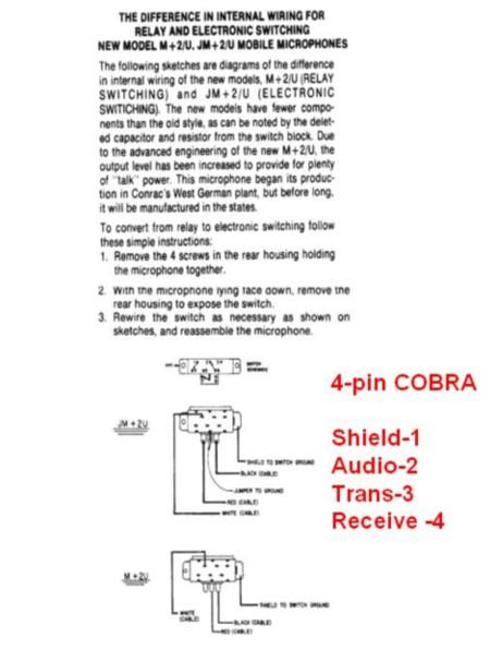 4 pin cb mic wiring   19 wiring diagram images