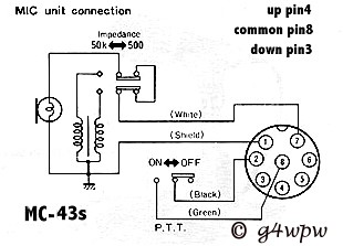 Copper Talk: Kenwood MC-43 mic pinout