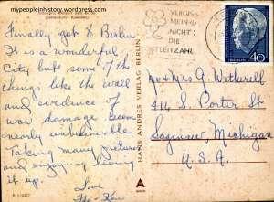 back of Berlin postcard
