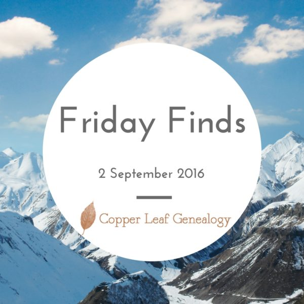 Friday Finds 2 September