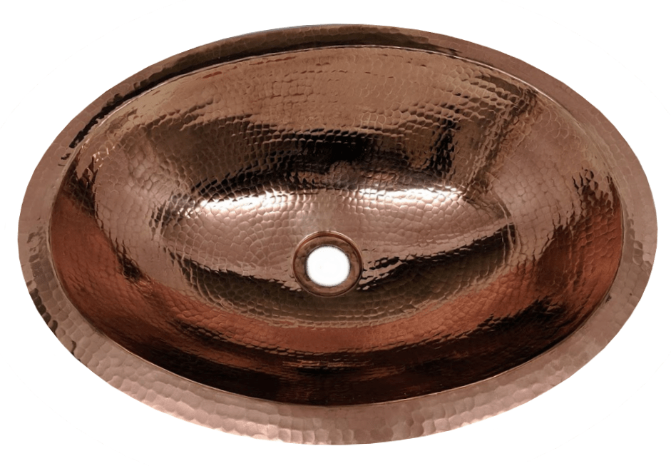 19 oval copper bathroom sink by soluna