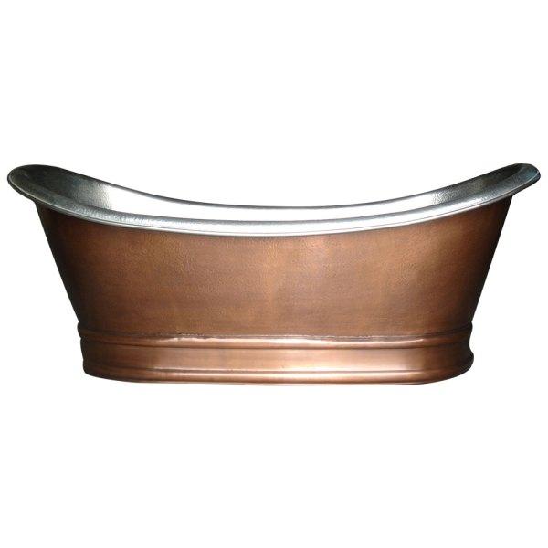 Antique Copper Bathtub Nickel Finish Inside