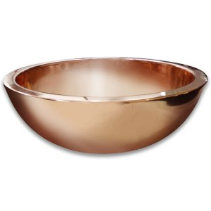 Round Double Wall Copper Sink - Coppersmith Creations