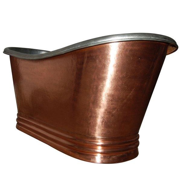 Freestanding Copper Bathtub Nickel Inside