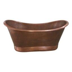 Copper Bathtub Thin Rolled Edge