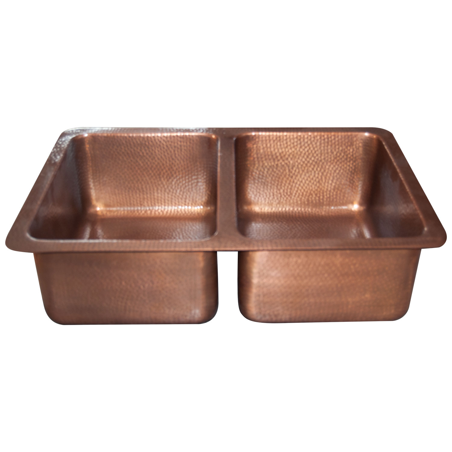 copper kitchen sink small table ideas double bowl hammered single wall antique finish