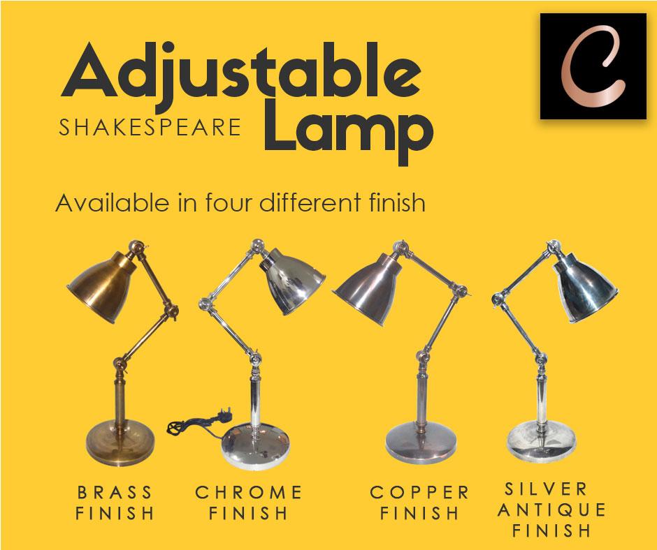 Adjustable Shakespeare Lamp