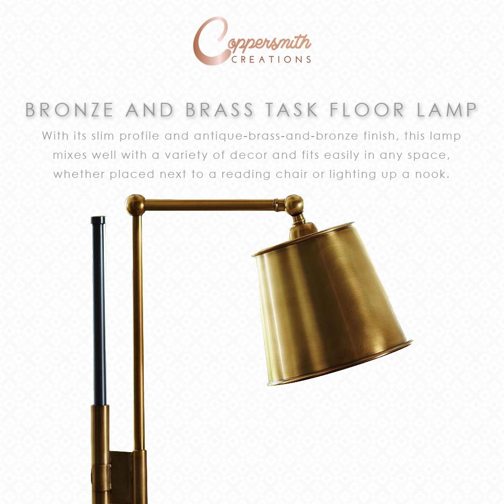 Bronze & Brass Task Floor Lamp