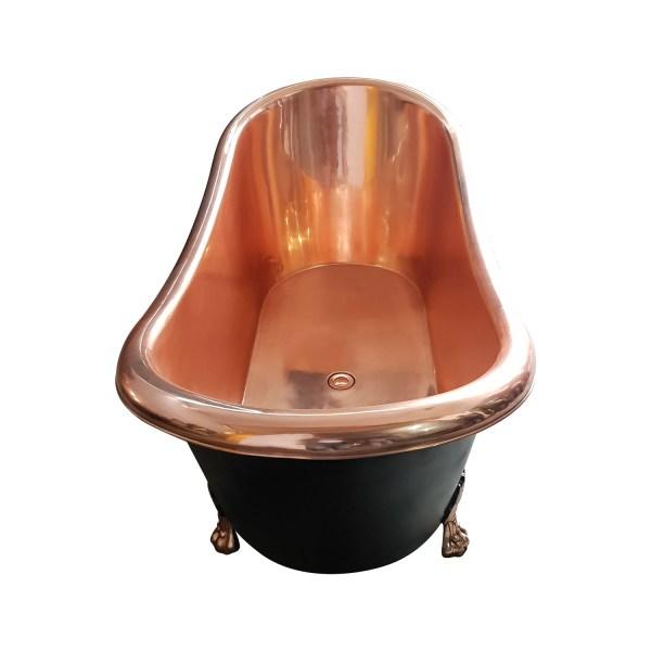 Clawfoot Copper Bathtub Black Outside