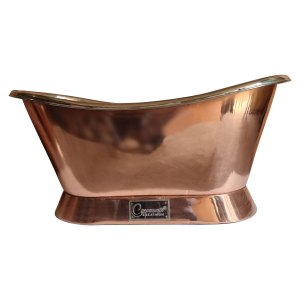 Slanting Base Copper Bathtub Nickel Interior-1500 mm