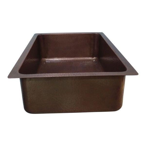 "Antique Hammered Copper Bar Sink 17.50"" x 15.50"" x 8"""
