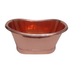 Copper Tub Style Sink Copper Inside Copper Outside Straight Base