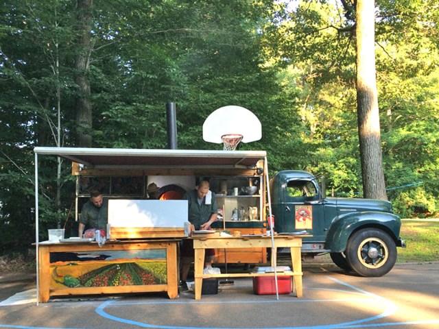 Big Green Pizza Truck at CVC