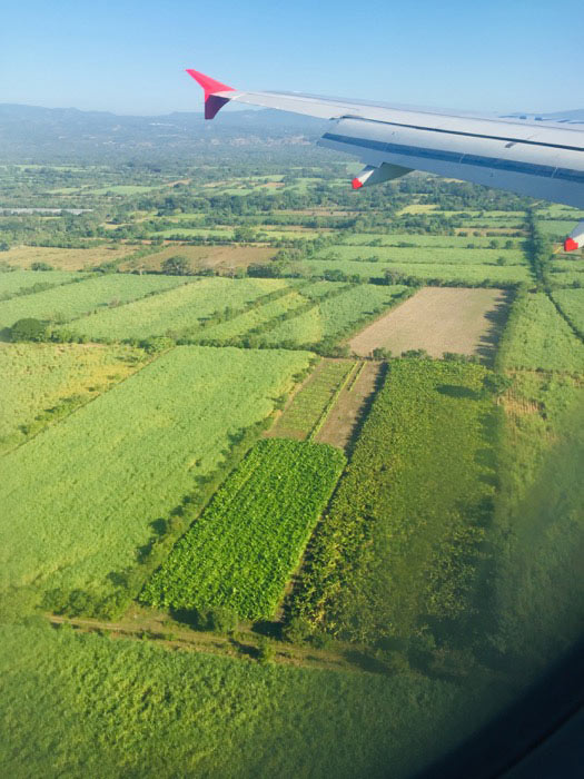 view of Equador landscape from plane