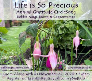 CircleSong of Gratitude 2020 flyer