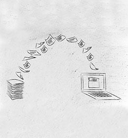 scansioni documenti dal formato A4 fino a 90 cm di larghezza.