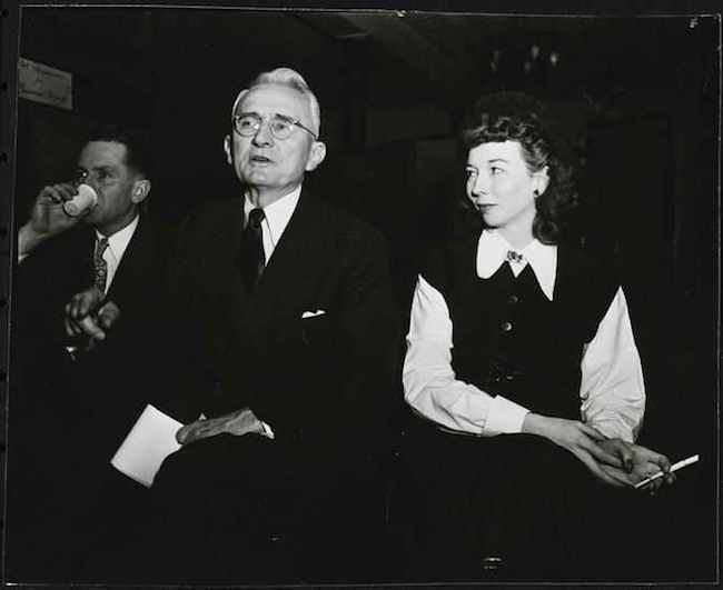 image of Dale Carnegie with his wife Dorothy Price Vanderpool.