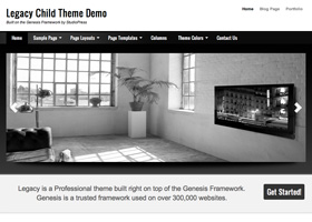 image of the Legacy theme for WordPress