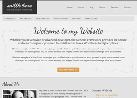 image of the Scribble theme for WordPress
