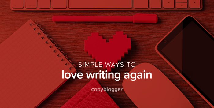 simple ways to love writing again